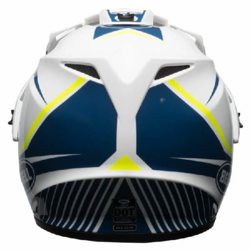 Bell MX 9 Adventure MIPS Torch White Blue Yellow Dual Sport Helmet 3