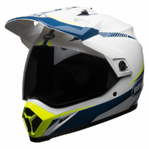 Bell MX 9 Adventure MIPS Torch White Blue Yellow Dual Sport Helmet
