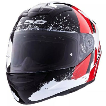 LS2 FF352 Vandal Matt Black Red White Full Face Helmet