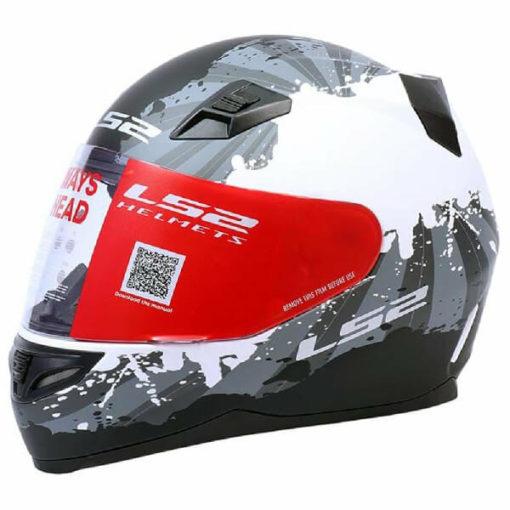 LS2 FF391 Ink Matt White Grey Full Face Helmet