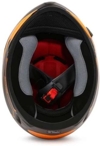 LS2 FF391 Night Breaker Matt Black Orange Full Face Helmet 2