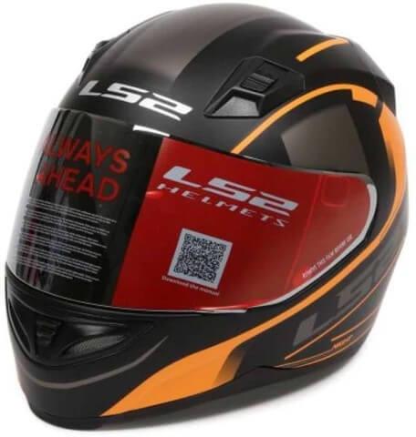 LS2 FF391 Night Breaker Matt Black Orange Full Face Helmet