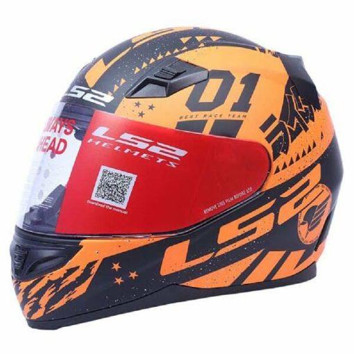 LS2 FF391 Tokyo Matt Black Orange Full Face Helmet