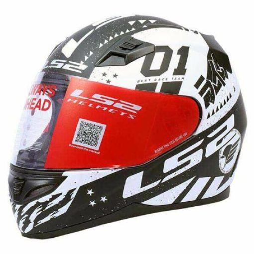 LS2 FF391 Tokyo Matt Black White Full Face Helmet