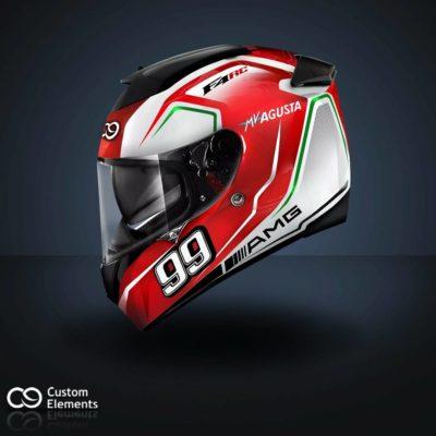 MV Agusta F4 RC Custom Helmet 1