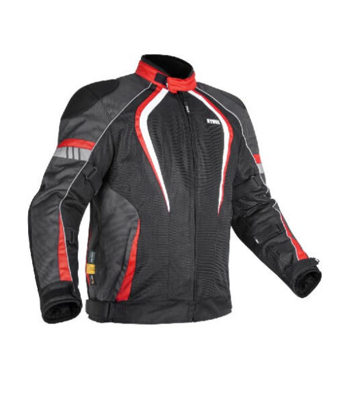 Rynox Tornado Pro V3 Black Red Riding Jacket