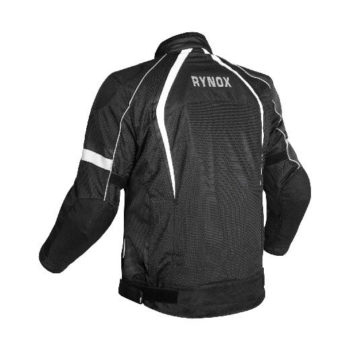 Rynox Tornado Pro V3 Black White Riding Jacket 1
