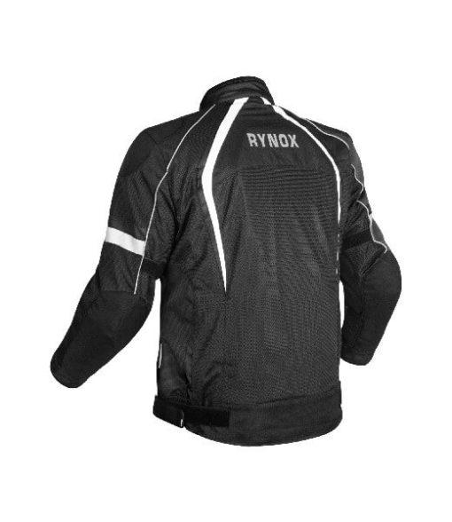 Rynox Tornado Pro V3 Black White Riding Jacket 1