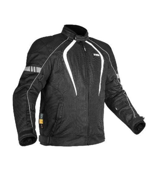 Rynox Tornado Pro V3 Black White Riding Jacket