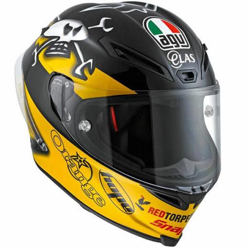 AGV Corsa Gp Guy Gloss Yellow Black Martin Full Face Helmet