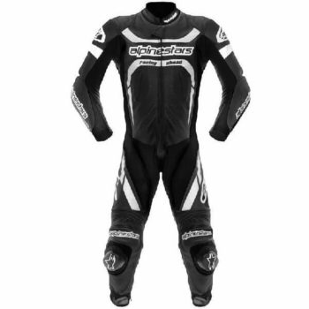 Alpinestars Motegi Leather Black White Suit