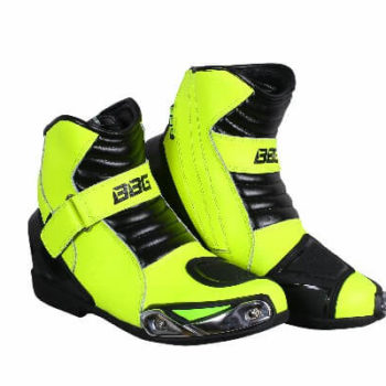 BBG Half Black Fluorescent Yellow Riding Boots 2