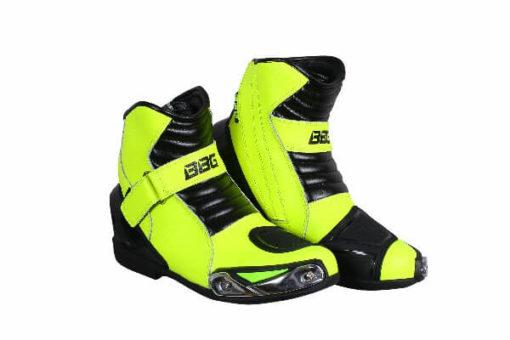 BBG Half Black Fluorescent Yellow Riding Boots 2