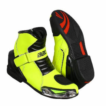 BBG Half Black Fluorescent Yellow Riding Boots