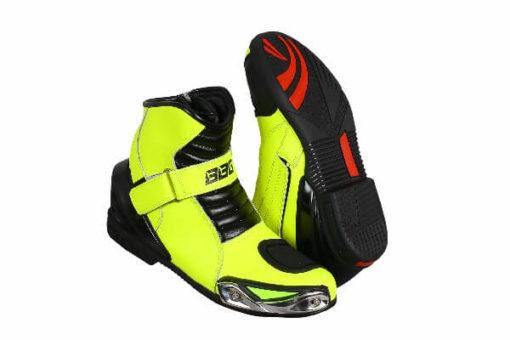 BBG Half Black Fluorescent Yellow Riding Boots