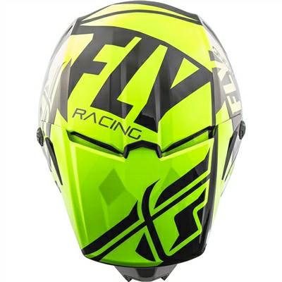 Fly Racing Elite Guild Matt Fluorescent Yellow Grey Black Motocross Helmet 1
