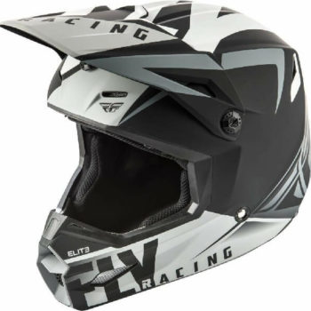 Fly Racing Elite Vigilant Matt Black Grey Motocross Helmet