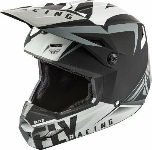 Fly Racing Elite Vigilant Matt Black Grey Motocross Helmet