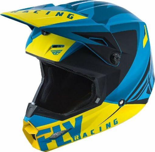 Fly Racing Elite Vigilant Matt Blue Black Motocross Helmet