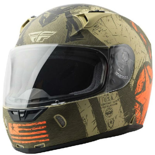 Fly Racing Liberator Matt Brown Orange Full Face Helmet