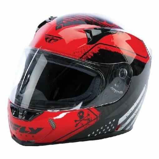 Fly Racing Revolt FS Patriot Gloss Black Red Full Face Helmet