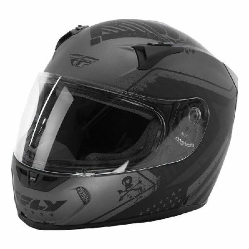 Fly Racing Revolt FS Patriot Matt Black Grey Full Face Helmet