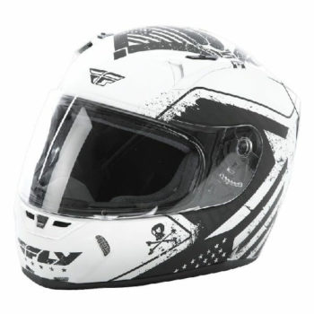 Fly Racing Revolt FS Patriot Matt White Black Full Face Helmet