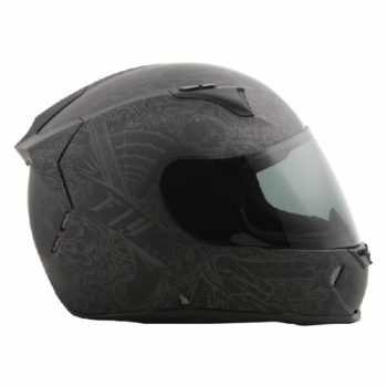 Fly Racing Revolt FS Solid Ink and Needle Matt Flat Black Full Face Helmet