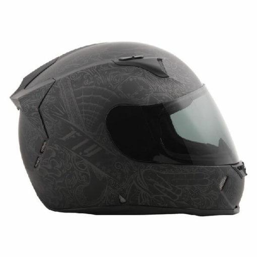 Fly Racing Revolt FS Solid Ink and Needle Matt Flat Black Full Face Helmet