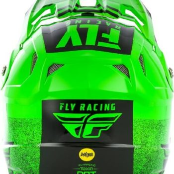 Fly Racing Toxin MIPS Embargo Gloss Green Black Motocross Helmet 1