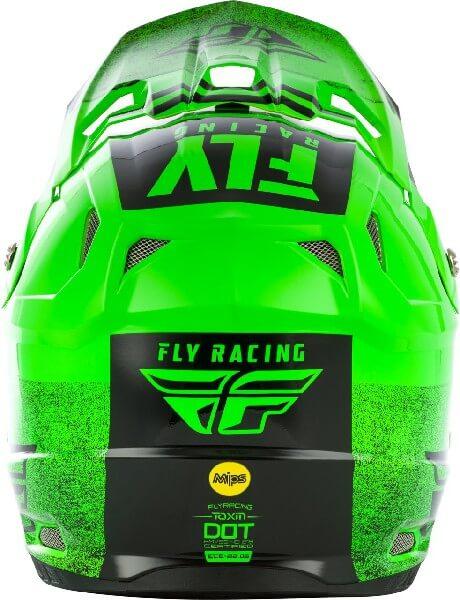 Fly Racing Toxin MIPS Embargo Gloss Green Black Motocross Helmet 1