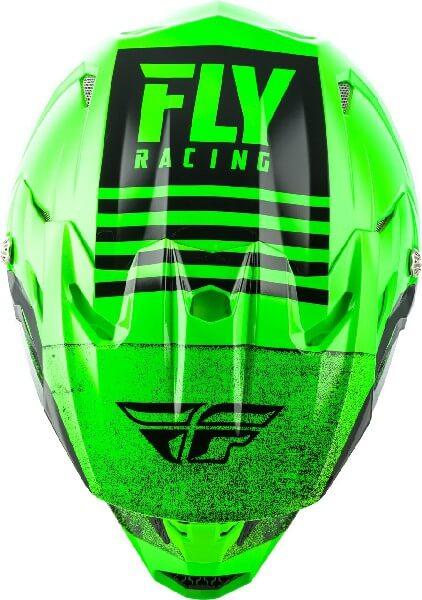 Fly Racing Toxin MIPS Embargo Gloss Green Black Motocross Helmet 2