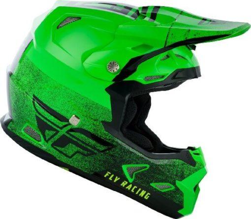 Fly Racing Toxin MIPS Embargo Gloss Green Black Motocross Helmet 3