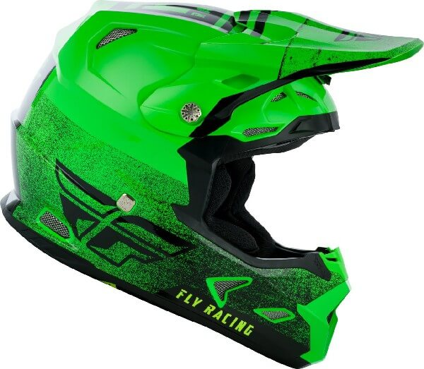 Fly Racing Toxin MIPS Embargo Gloss Green Black Motocross Helmet 3