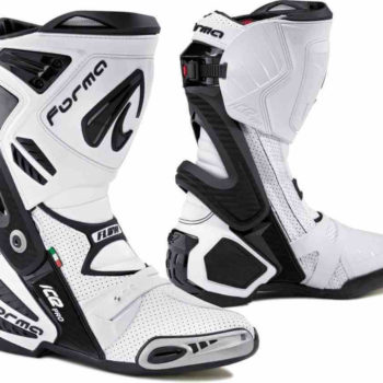 Forma Ice Pro Flow White Black Riding Boots