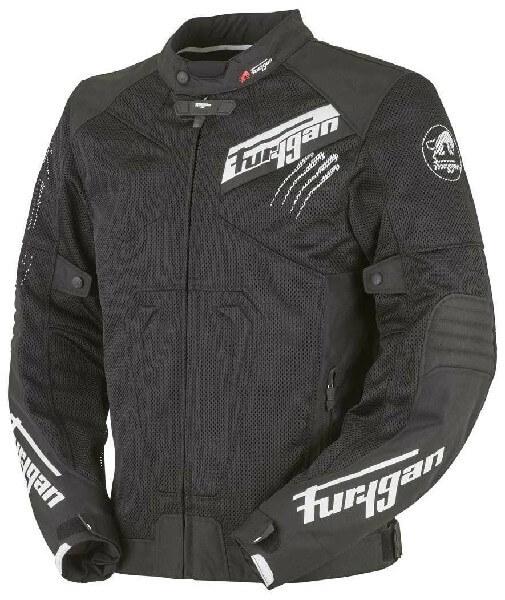 Furygan Hurricane Vented Mesh Textile Black White Riding Jacket 2