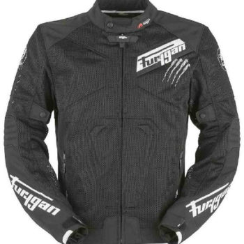 Furygan Hurricane Vented Mesh Textile Black White Riding Jacket