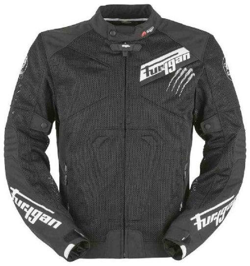 Furygan Hurricane Vented Mesh Textile Black White Riding Jacket
