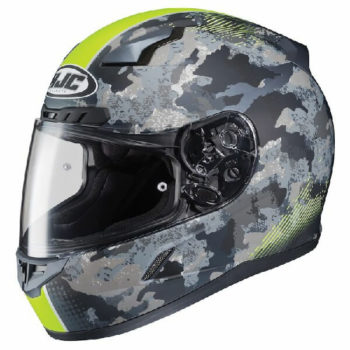 HJC CL 17 Void MC3Hf Matt Camo Black Grey Fluorescent Yellow Full Helmet