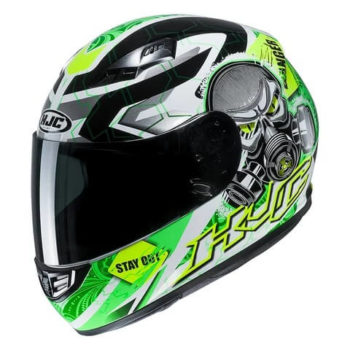 HJC CS 15 Rafu MC4H Matt White Green Full Face Helmet