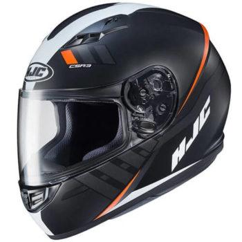 HJC CS 15 Space MC7SF Matt Black White Orange Full Face Helmet