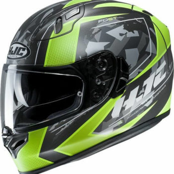 HJC FG ST Kume MC4HSF Matt Green Black Full Face Helmet 1