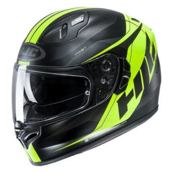 HJC FGST Crono MC4HSF Matt Black Fluorescent Yellow Full Face Helmet1