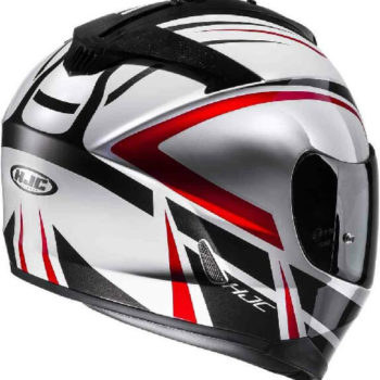 HJC IS 17 Cynapse MC1 Gloss Black White Red Full Face Helmet 1