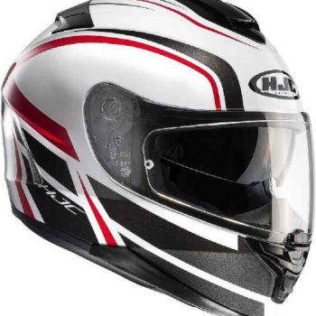 HJC IS 17 Cynapse MC1 Gloss Black White Red Full Face Helmet