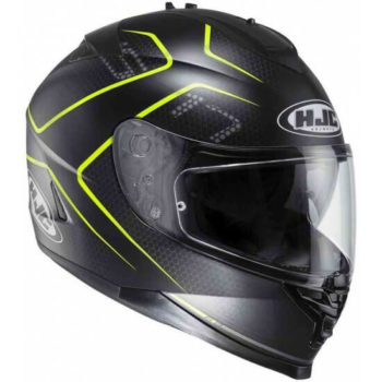 HJC IS 17 Lank MC4HSF Matt Black Fluorescent Yellow Full Face Helmet 1