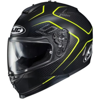 HJC IS 17 Lank MC4HSF Matt Black Fluorescent Yellow Full Face Helmet
