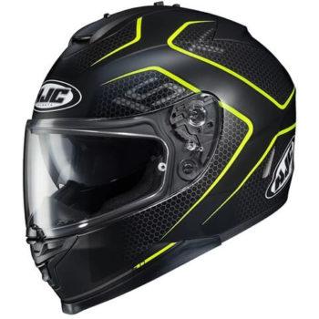 HJC IS 17 Lank MC4HSF Matt Black Fluorescent Yellow Full Face Helmet