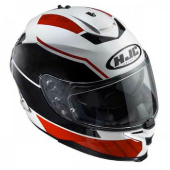 HJC IS 17 Trident MC1 Matt White Red Black Full Face Helmet