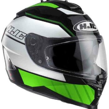 HJC IS 17 Trident MC4 Matt White Green Black Full Face Helmet